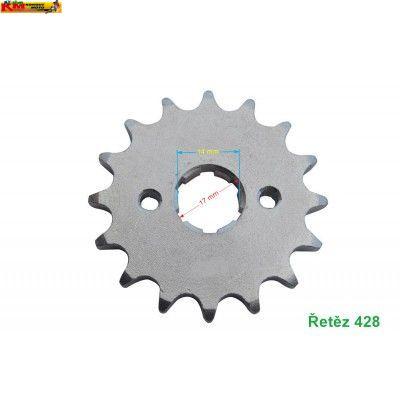 Řetězové kolečko 428 - bez spony/17mm
