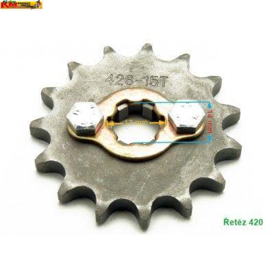Řetězové kolečko 420 - se sponou/17mm