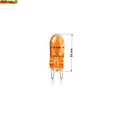 Žárovka 12V 3W - oranžová