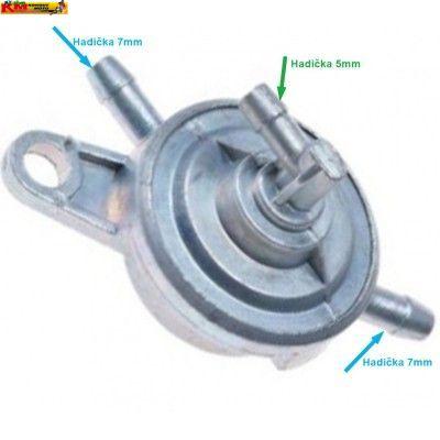 Podtlakový  palivový ventil - 3 vývody