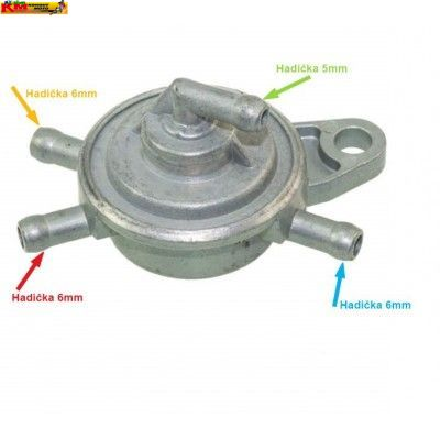 Podtlakový  palivový ventil - 4 vývody
