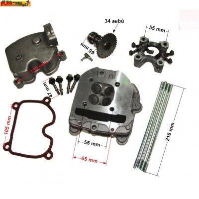Hlava GY6 125/150cc racing 4V