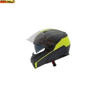 Přilba MAXX - vyklápěcí - černá/žlutá fluo - lesk