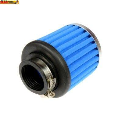 Vzduchový filtr tuning - molitan - rovný modrý 36mm