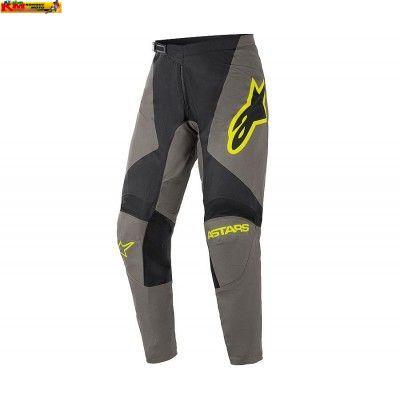 Kalhoty FLUID SPEED - tmavě šedá/černá/žlutá fluo