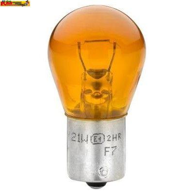 Žárovka 12V 21W BAU15s - oranžová