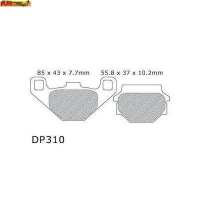 Brzdové desky DP 310
